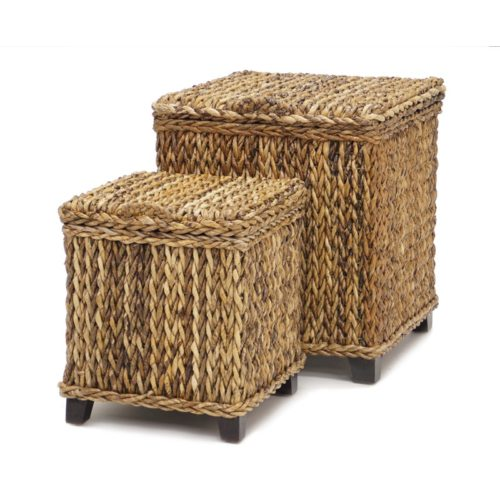Maui square trunks woven rattan tropical casual