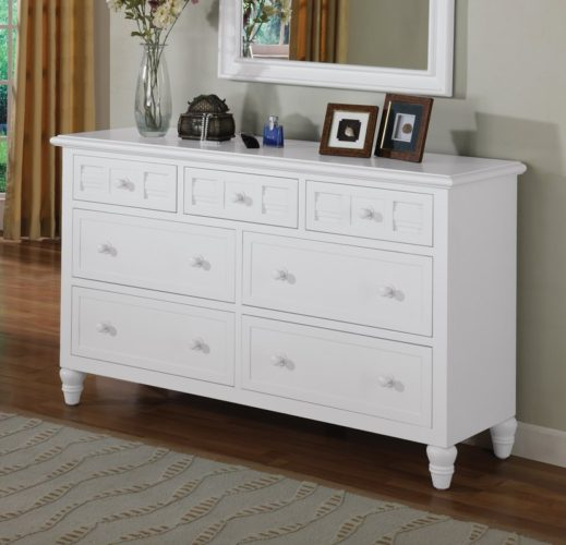 Oceanside Dresser white coastal casual