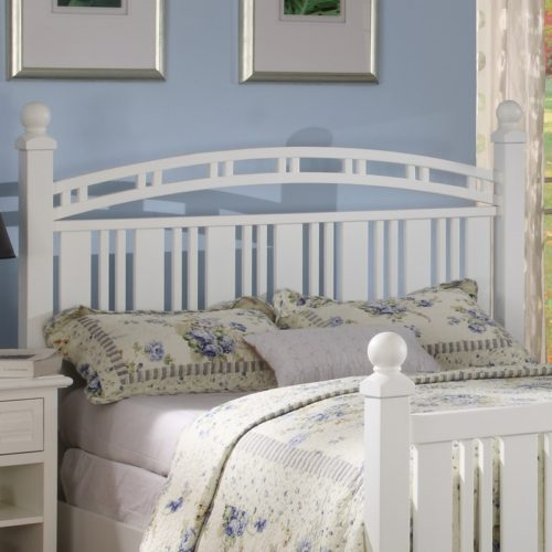 Oceanside headboard slat white coastal casual