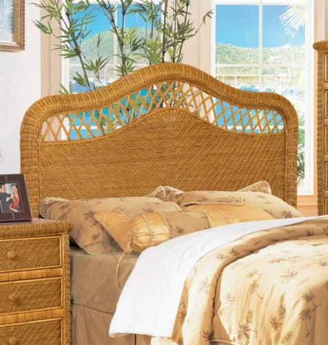 Santa Cruz headboard Wicker Rattan coastal