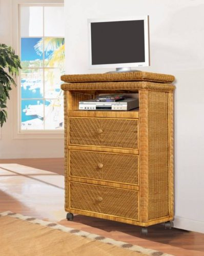 Santa Cruz tv stand Wicker Rattan coastal