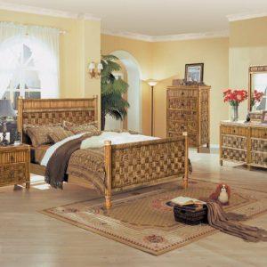 Tahiti bedroom furniture rattan coastal casual