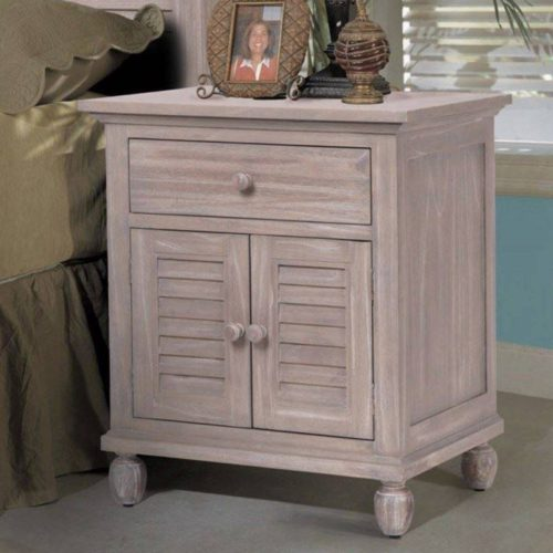 Tortuga nightstand distressed driftwood costal Casual