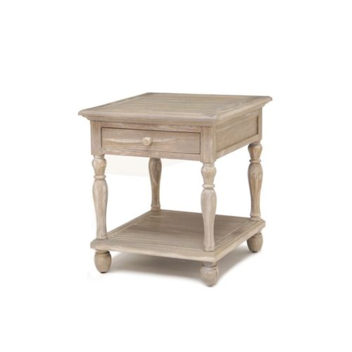 Tortuga end table living room wood distressed tropical casual
