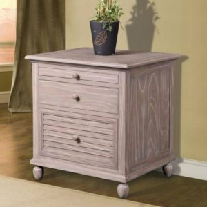 Tortuga office filing cabinet distressed driftwood coastal casual