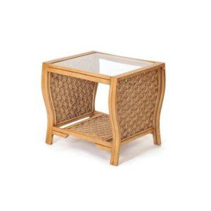 Milan end table wicker rattan coastal casual