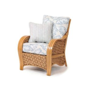 Milan lounge chair living room wicker rattan coastal casual