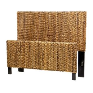 Maui bed woven rattan casual coastal