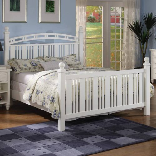 Oceanside bed slat white tropical casual
