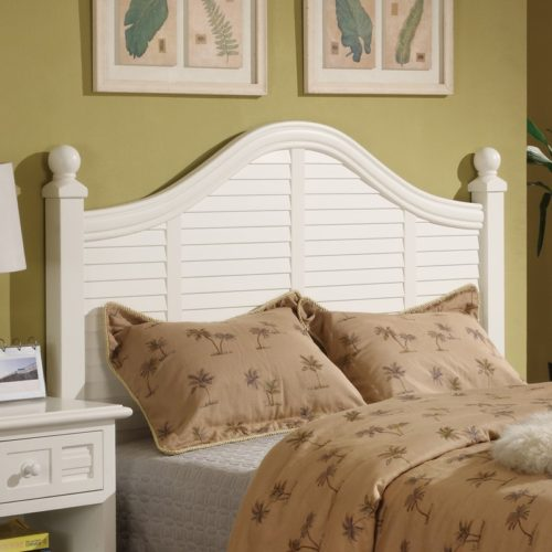 Oceanside headboard shutter white tropical casual