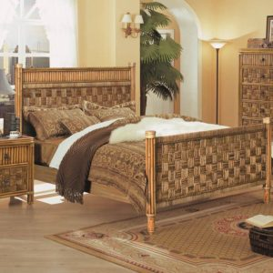 Tahiti bed rattan coastal casual