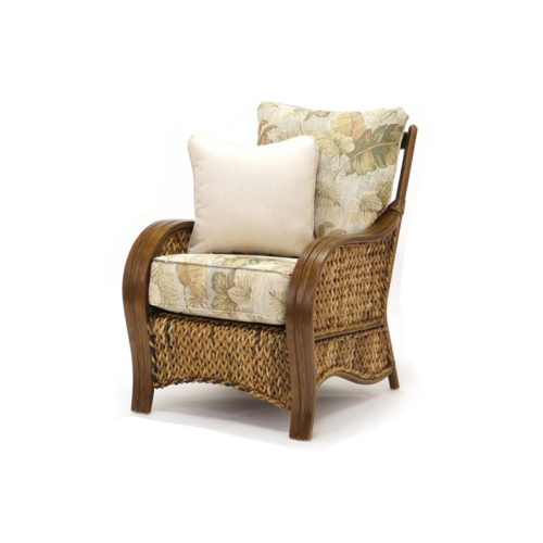 lounge chair Maui living room woven rattan tropical casual