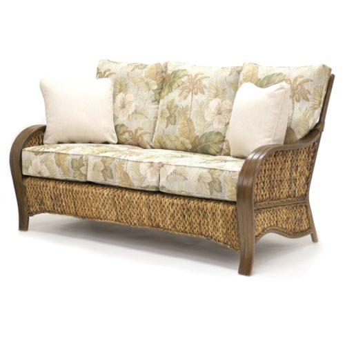 Maui woven sofa living room woven rattan tropical casual