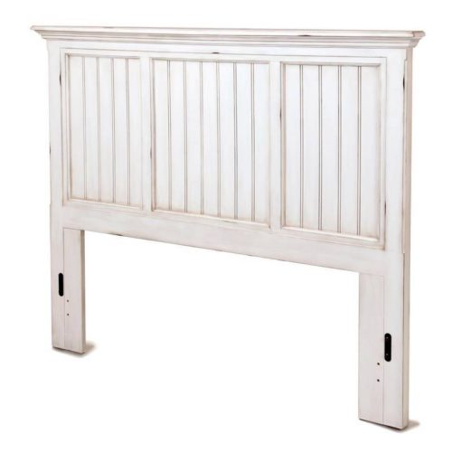 Monaco bed headbaord distressed white coastal casual