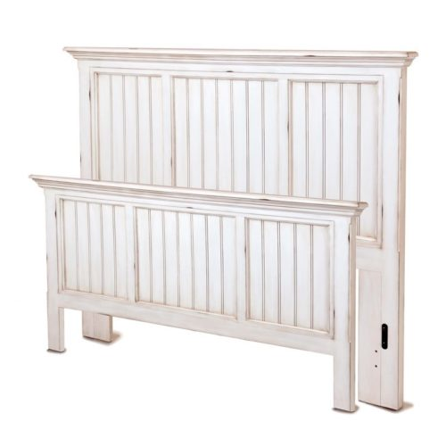 Monaco bed white distressed vintage coastal