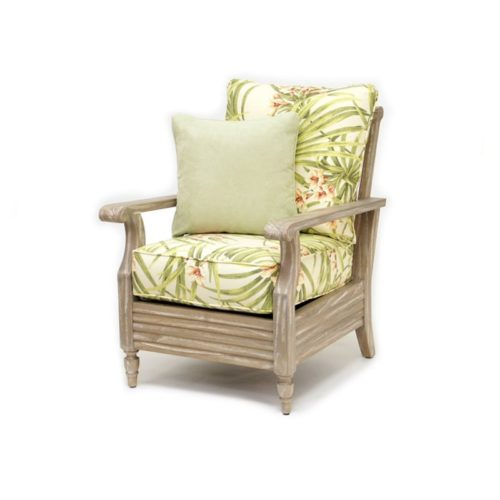 Tortuga lounge chair living room wood distressed tropical casual