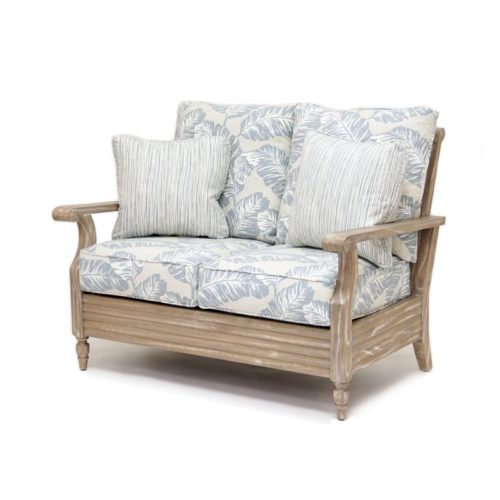 Tortuga loveseat living room wood distressed tropical casual