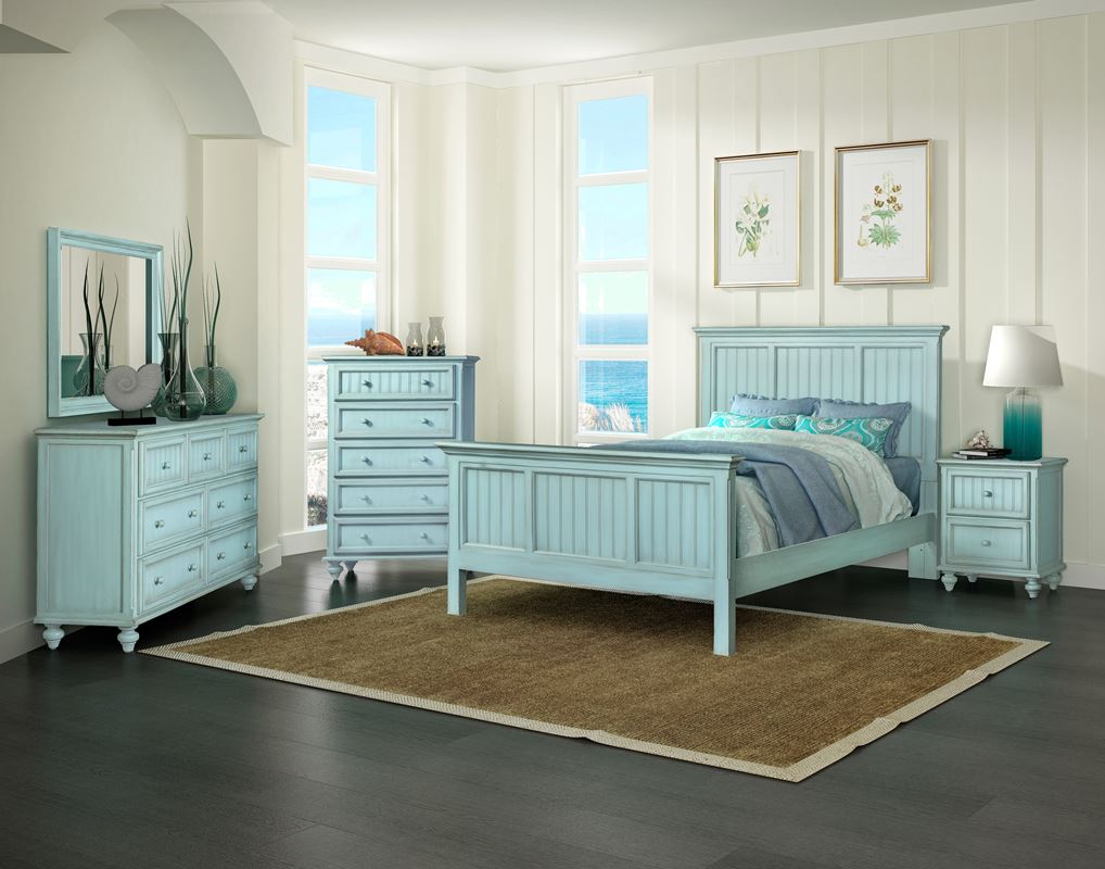 Monaco Casual Bedroom Collection Bleu Sea Winds