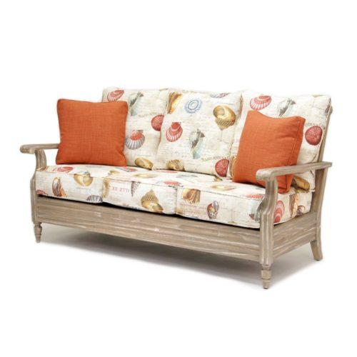 Tortuga Sofa living room wood driftwood tropical casual