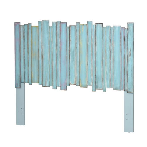 Picket-fence-distressed-blue-casual-headboard-with-a-coastal-touch.