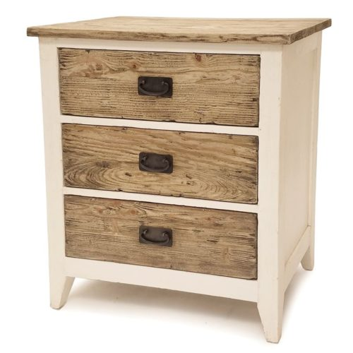 White-natural reclaimed-wood-3-drawer-chest-furniture