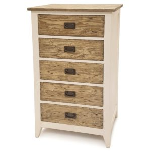 White-natural reclaimed-wood-5-drawer-chest-furniture