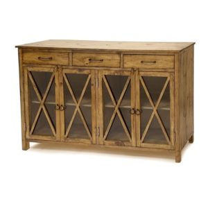 olde-world-rustic-pine-wood-server-sideboard-buffet-glass-doors