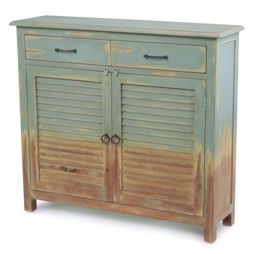 Olde-World-Blue-Distressed-finish-vintage-entry-cabinet