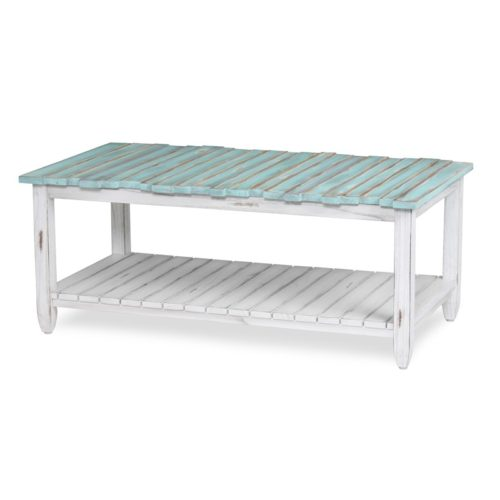 Picket-Fence-distressed-coastal-blue-coffee-table
