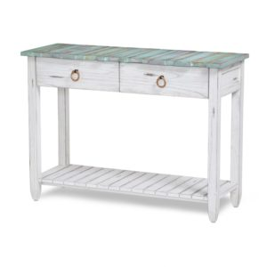 Picket-Fence-distressed-coastal-blue-console-table