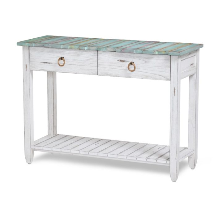 B78204 Dbleu Wh Console Table Sea Winds Trading Co