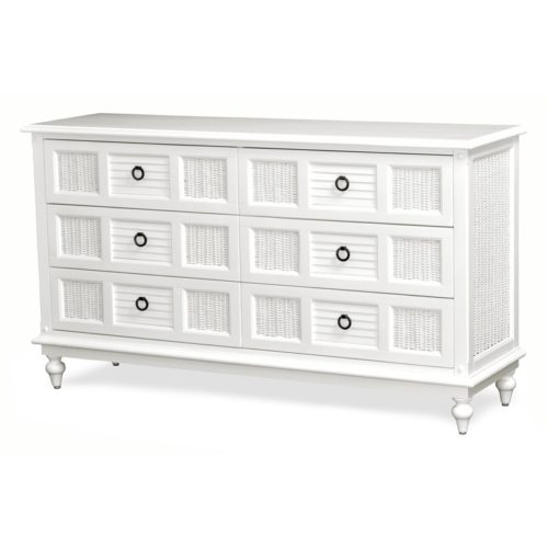 Key-West-6-dresser-white-shutter-wicker-tropical-casual.