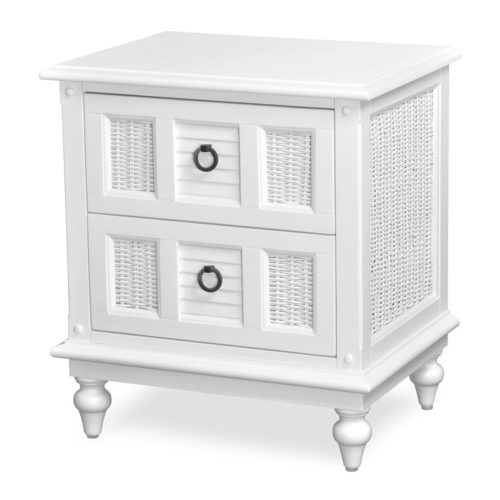 Key-West-Nightstand-white-shutter-wicker-tropical-casual