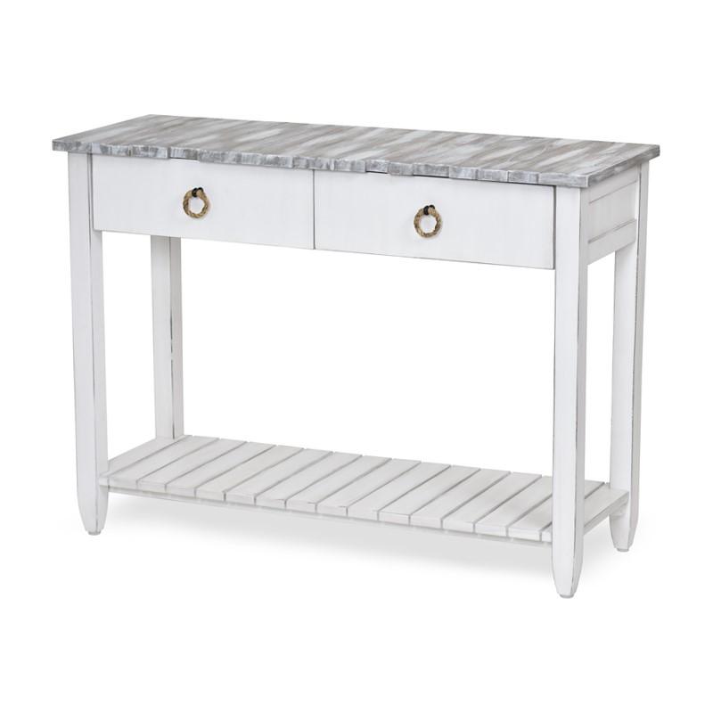 Super Picket Fence Console Table Grey Sea Winds Trading Co Machost Co Dining Chair Design Ideas Machostcouk