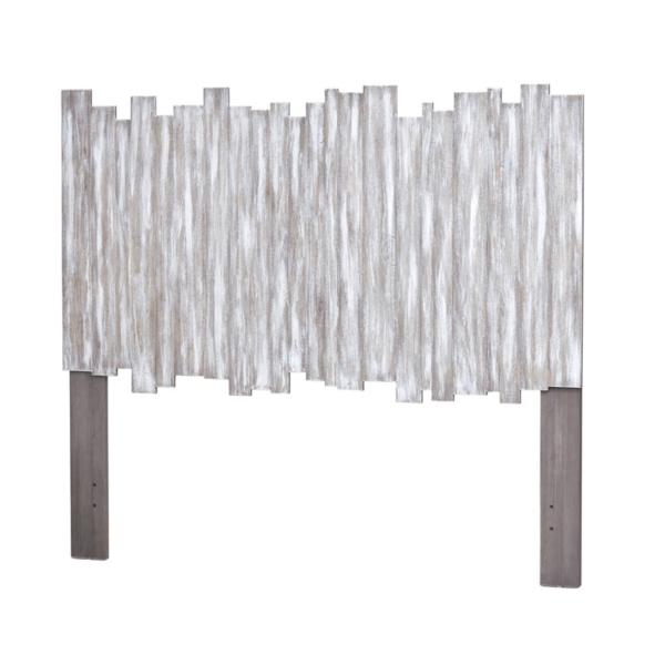 Picket-Fence-coastal-casual-headboard-in-distressed-grey-finish