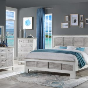 Islamorada Bedroom Collection | Grey and White Bedroom