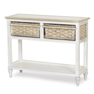 Island-Breeze-woven-basket-console-table-weathered-white-finish