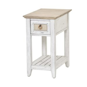 Captiva-Island-casual-distressed-Chairside-table-with-fabric