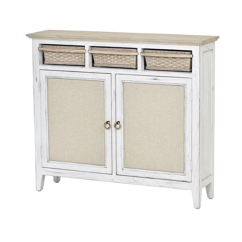Captiva Island Entry Cabinet With Baskets Sea Winds