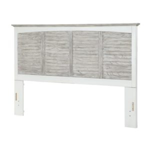 Islamorada-casual-two-tone-distressed-white-and-grey-Headboard-Bed