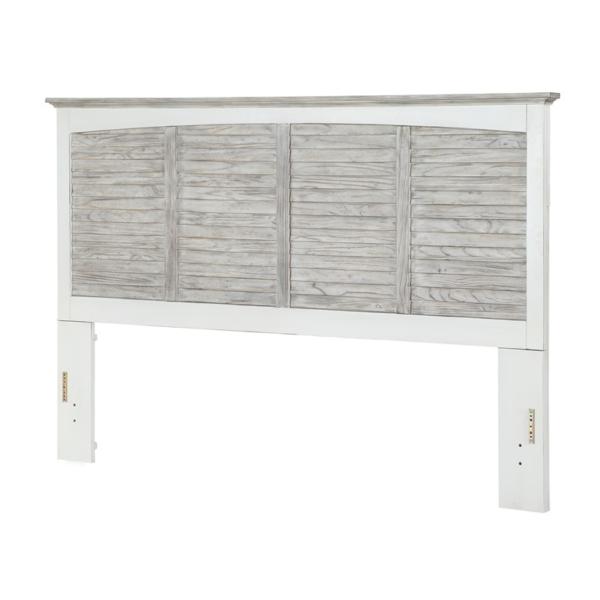 Islamorada-casual-two-tone-distressed-white-and-grey-Headboard-Bed