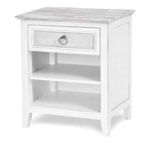 Captiva-Island-distressed-grey-casual-nightstand-and-fabric-on-drawers