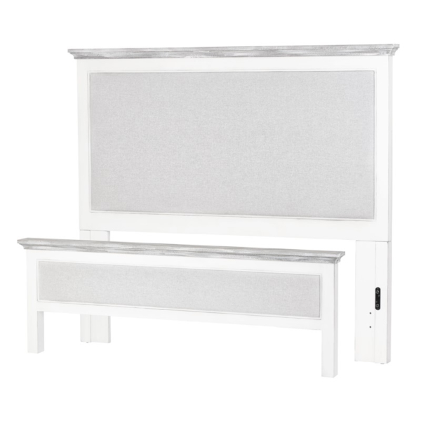 Captiva-Island-two-tone-distressed-grey-white-casual-upholstered-bed