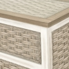 Sea-Breeze-Tropical-seagrass-weave-detail-with-glass-top