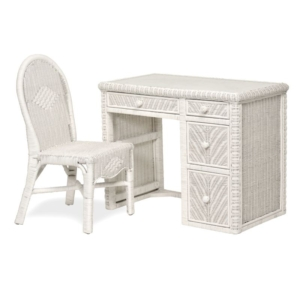 Santa-Cruz-desk-chair-set-drawer--Wicker-detail-Tropical-white-finish