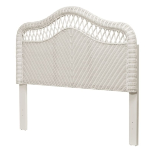 Santa-Cruz-headboard-Wicker-Tropical-white-finish