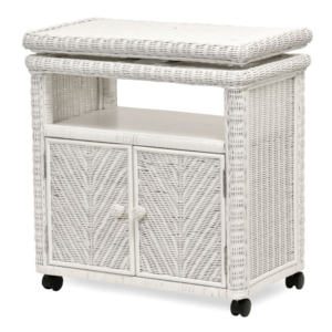 Santa-Cruz-low tv stand-cabinet--Wicker-detail-Tropical-white-finish