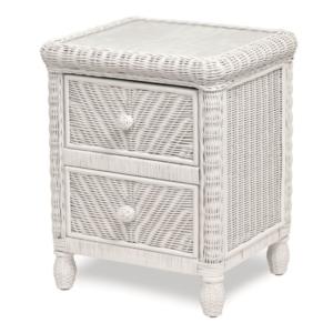 Santa-Cruz-two-drawer-nightstand-Wicker-Tropical-white-finish