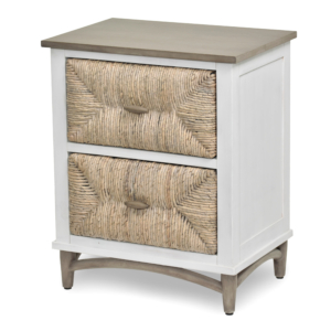 Port-Royale-2-Drawer-Nightstand-brown-White-Weave-wood-Coastal-bedroom-casual