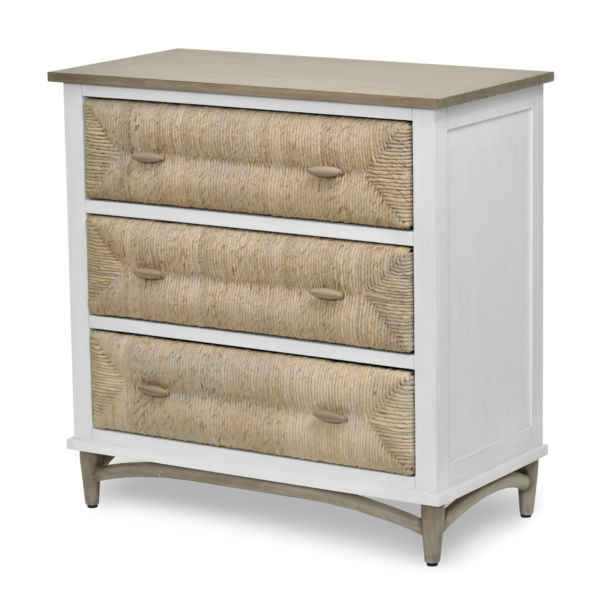 Port-Royale-3-Drawer-Chest-brown-White-Weave-wood-Coastal-bedroom-casual